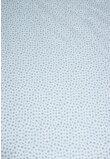 Cearceaf bumbac, alb cu stelute gri, 120x60 cm