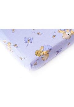 Cearceaf bumbac cu elastic, albastru, ursuletul si albinutele