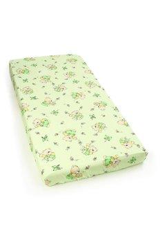 Cearceaf bumbac cu elastic, verde, ursuletul si albinutele