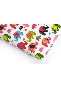 Cearceaf bumbac, elefantei roz, 120x60 cm