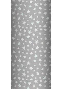 Cearceaf bumbac, gri cu stelute albe, 120x60 cm
