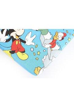 Cearceaf bumbac,Mickey petrece,albastru, 120 x 60 cm