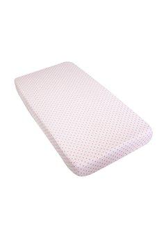 Cearceaf bumbac, roz cu stelute roz, 120x60cm