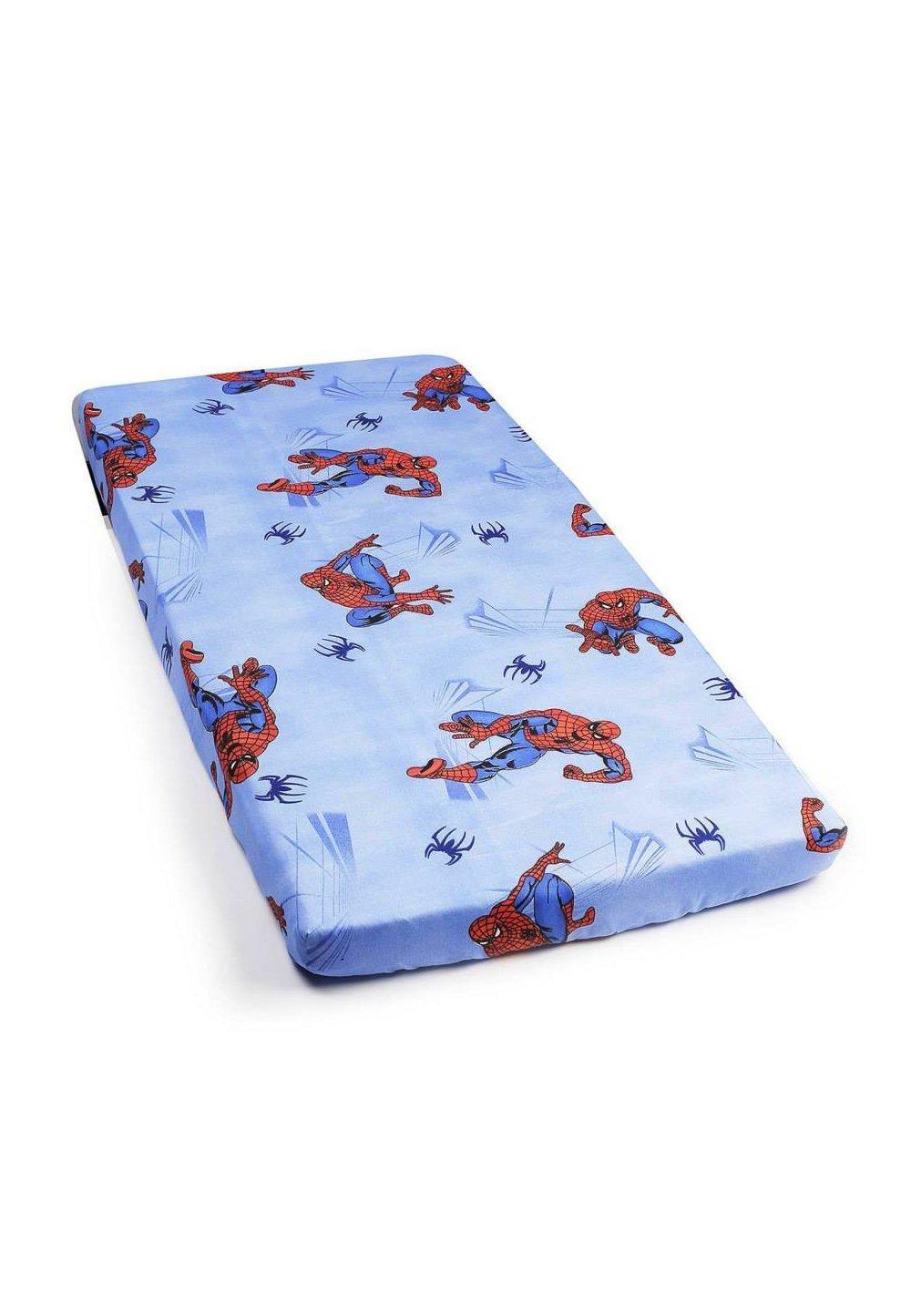 Cearceaf bumbac Spiderman,albastru 120 x 60 cm imagine
