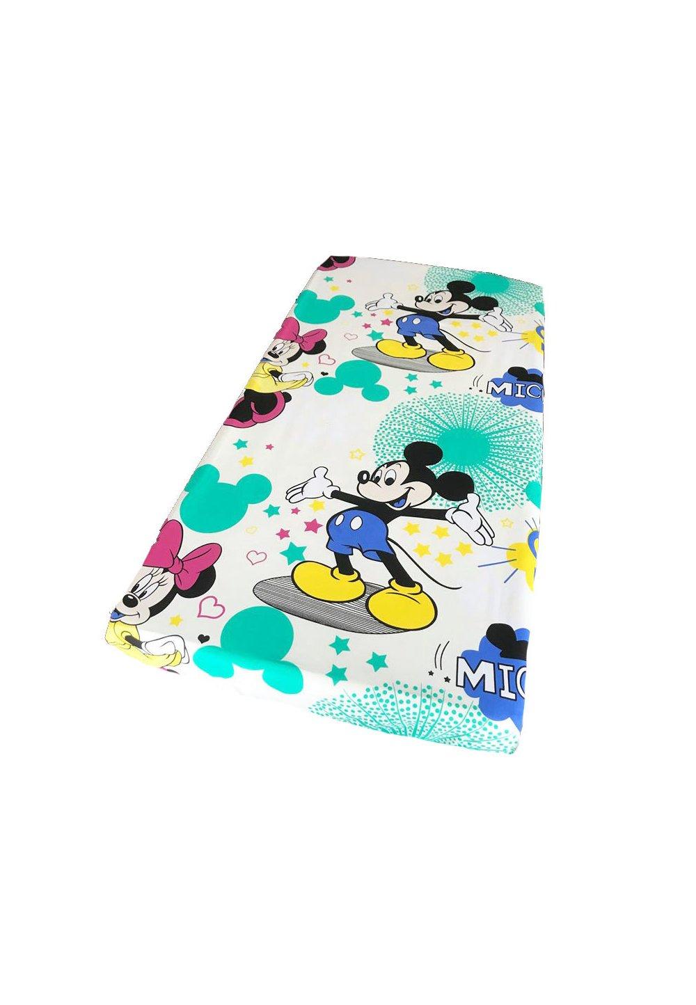 Cearceaf Minnie si Mickey, 120x60 cm, crem imagine