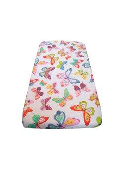Cearceaf patut, Prichindel, fluturasi multicolori, 120 x 60 cm