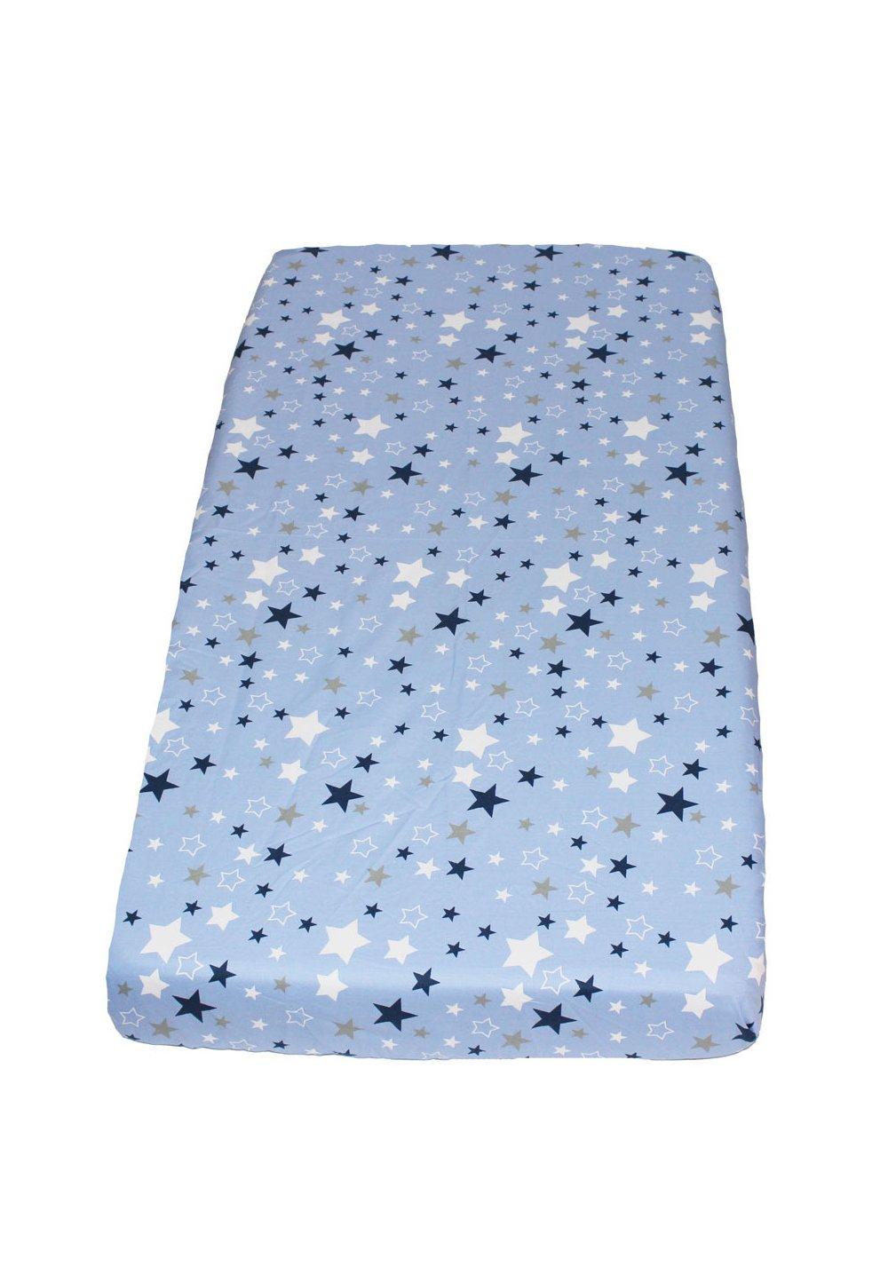 Cearceaf patut, stelutele albastre, 120x60cm imagine