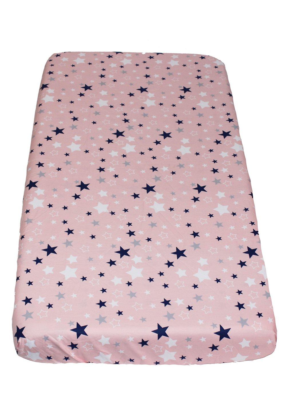 Cearceaf patut, stelutele roz, 120x60cm imagine