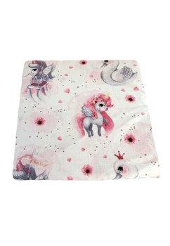 Cearceaf patut, Unicornul roz, 120x60 cm