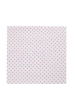 Cearceaf Prichindel, patut 120x60 cm, alb cu buline roz