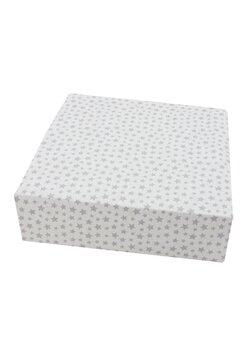 Cearceaf Prichindel, patut 120x60 cm, alb cu stelute gri