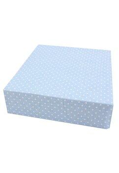 Cearceaf Prichindel, patut 120x60 cm, albastru cu buline albe