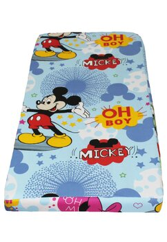 Cearceaf Prichindel, patut 120x60 cm, albastru, Minnie si Mickey