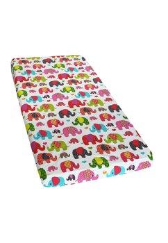 Cearceaf Prichindel, patut 120x60 cm, elefantei roz