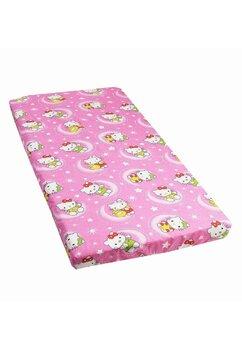 Cearceaf Prichindel, patut 120x60 cm, Hello Kitty ,roz inchis