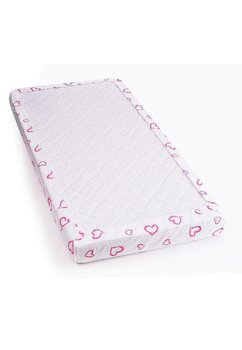 Cearceaf Prichindel, patut 120x60 cm, inimioare roz