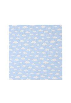 Cearceaf Prichindel, patut 120x60 cm, norisori albastri