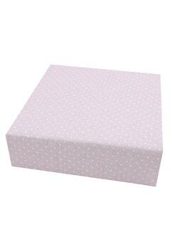 Cearceaf Prichindel, patut 120x60 cm, roz cu buline albe