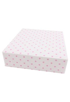 Cearceaf Prichindel, patut 120x60 cm, roz cu stelute roz