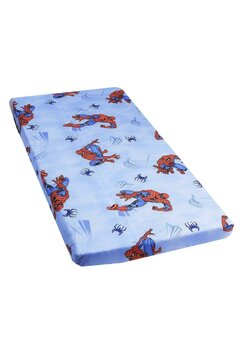 Cearceaf Prichindel, patut 120x60 cm, Spiderman,albastru