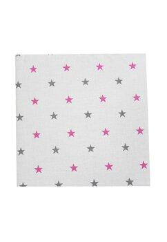Cearceaf Prichindel, patut 120x60 cm, stelute roz