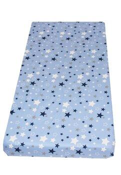 Cearceaf Prichindel, patut 120x60 cm, stelutele albastre