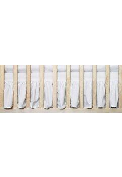 Cearceaf Prichindel, patut 120x60 cm, volanas, alb