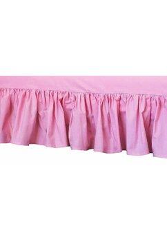 Cearceaf Prichindel, patut 120x60 cm, volanas, roz