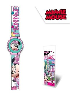 Ceas de mana, digital, Minnie, roz cu turcoaz