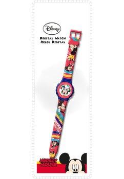 Ceas digital, Mickey Mouse, cu dungi colorate
