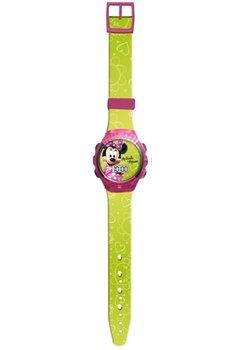 Ceas Minnie Mouse, roz cu galben