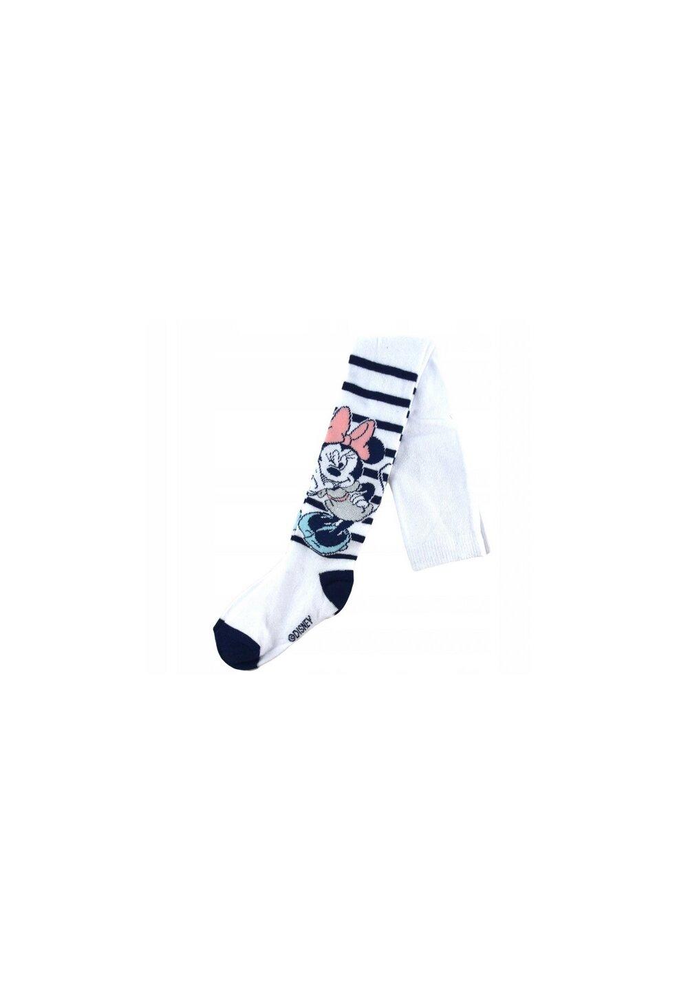 Ciorapi cu chilot bebe, Minnie Mouse, albi imagine