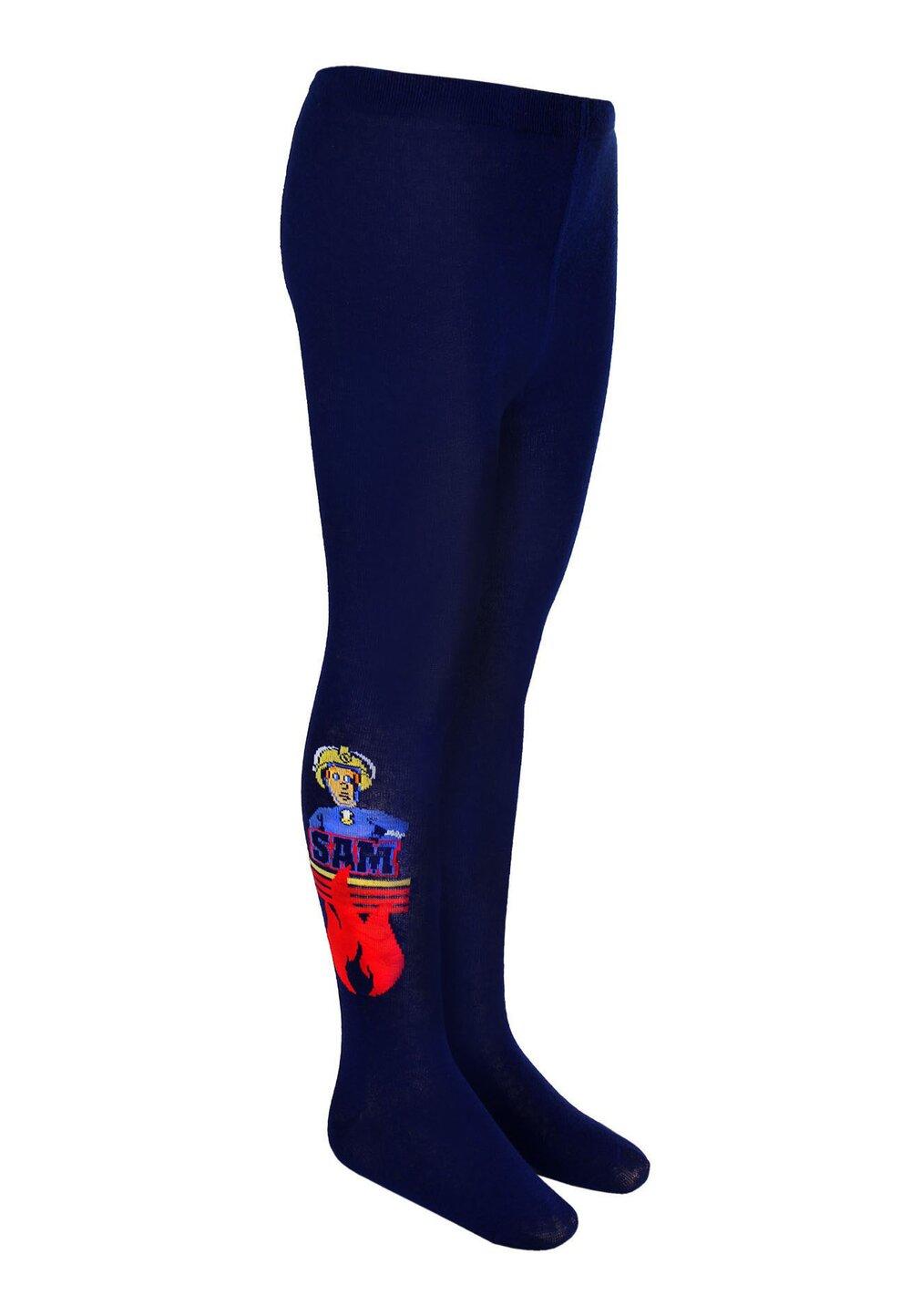 Ciorapi cu chilot, 70% bumbac, Pompierul Sam, bluemarin