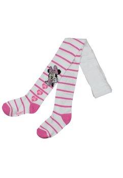 Ciorapi cu chilot, alb cu dungi, Minnie Mouse