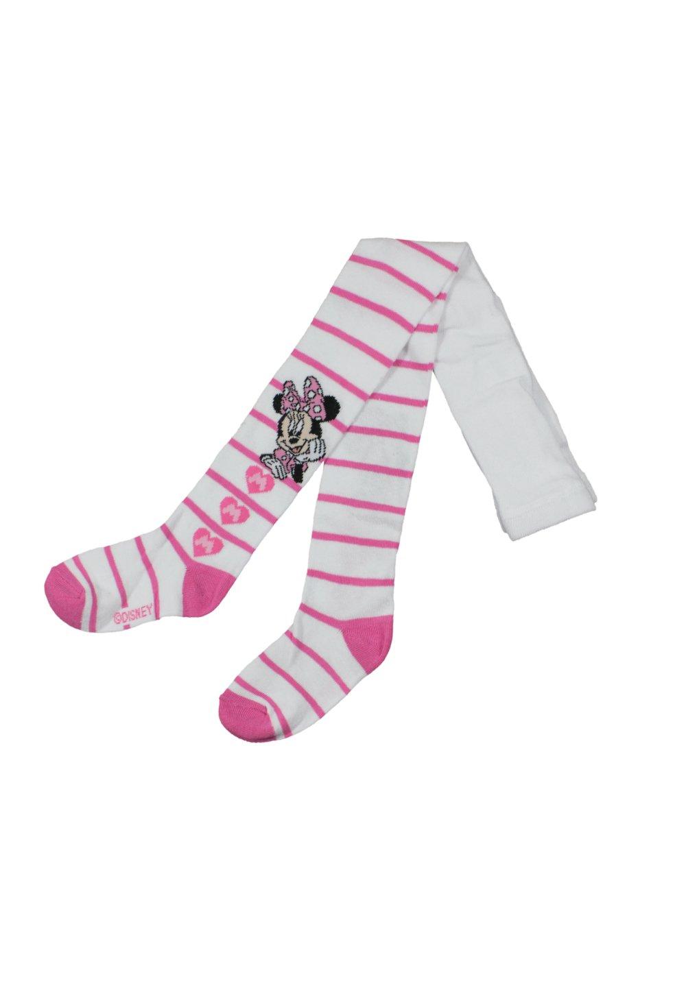 Ciorapi cu chilot, alb cu dungi, Minnie Mouse imagine