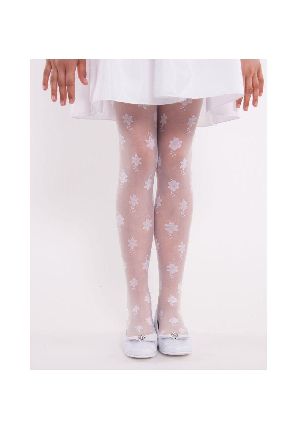 Ciorapi cu chilot, Alicja, flori albe imagine