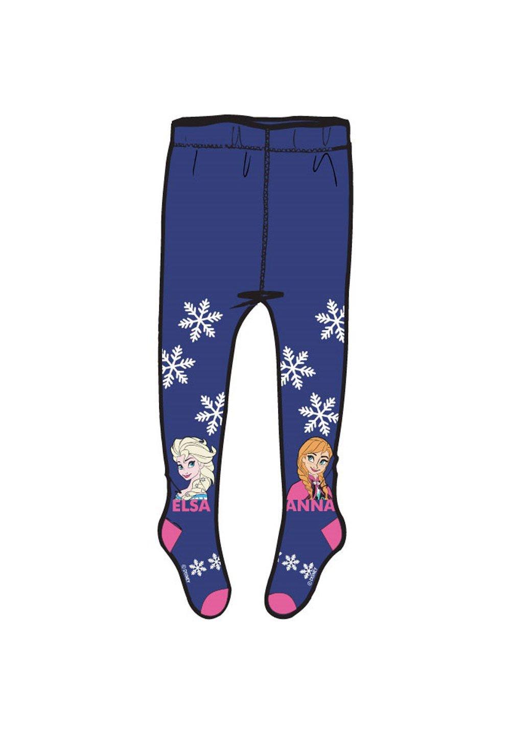 Ciorapi cu chilot, Anna si Elsa, mov cu fulgi imagine