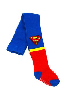 Ciorapi cu chilot, bebe, 75% bumbac, Superman, albastru