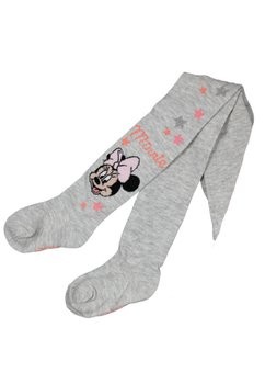 Ciorapi cu chilot, bebe Minnie Mouse, gri cu stelute