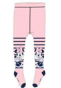 Ciorapi cu chilot bebe, Minnie Mouse, roz cu dungi