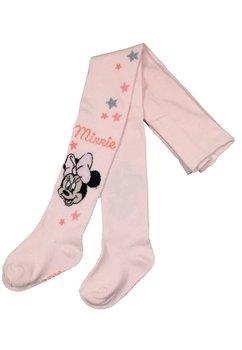 Ciorapi cu chilot, bebe Minnie Mouse, roz cu stelute