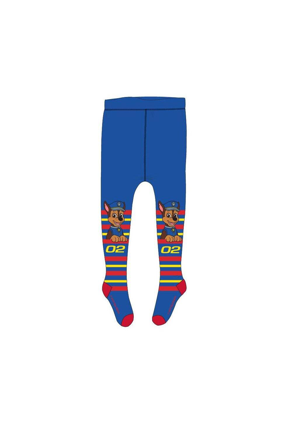 Ciorapi cu chilot, Chase 02, albastri cu dungi colorate imagine