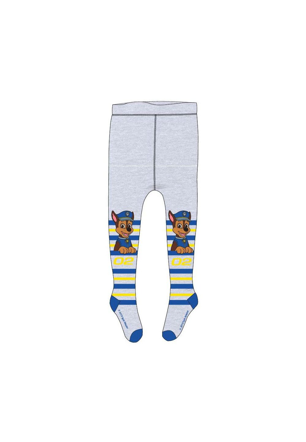 Ciorapi cu chilot, Chase 02, gri cu dungi colorate imagine