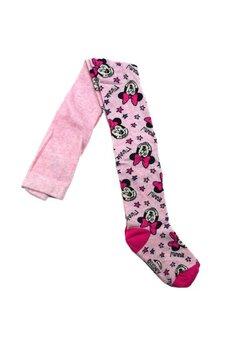 Ciorapi cu chilot, cu stelute roz si mov,Minnie