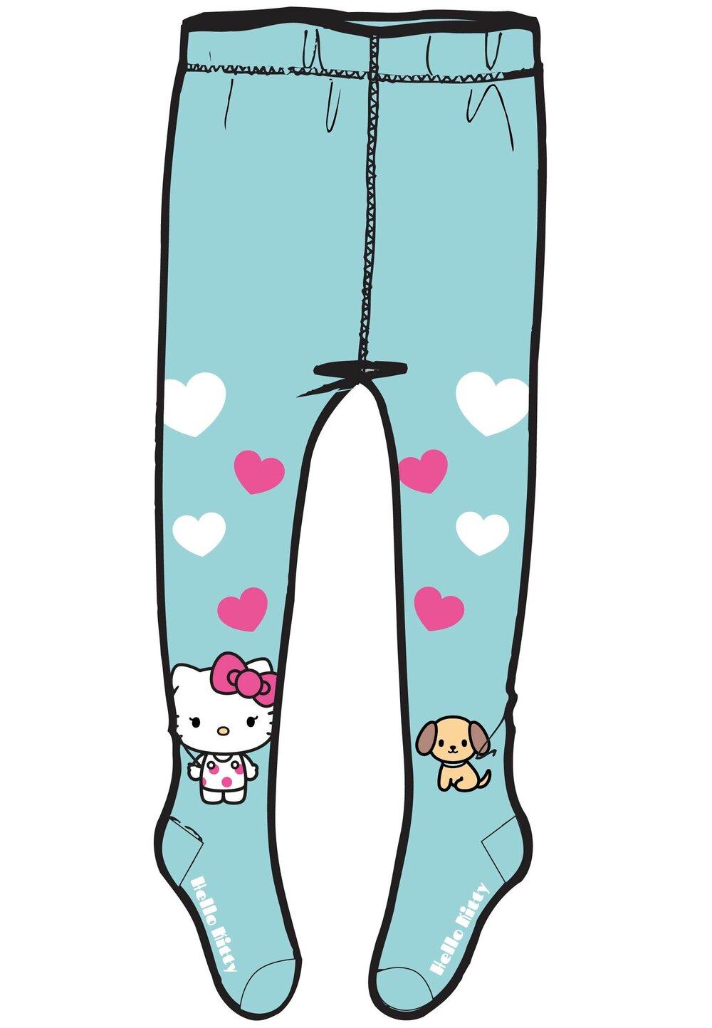 Ciorapi cu chilot, Hello Kitty, turcoaz imagine