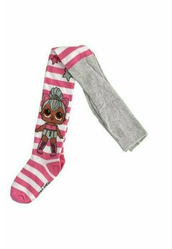 Ciorapi cu chilot, LOL Surprise, alb cu roz