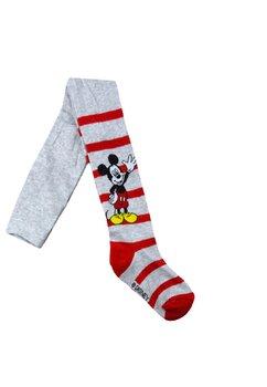 Ciorapi cu chilot, Mickey si Pluto, gri cu dungi rosii