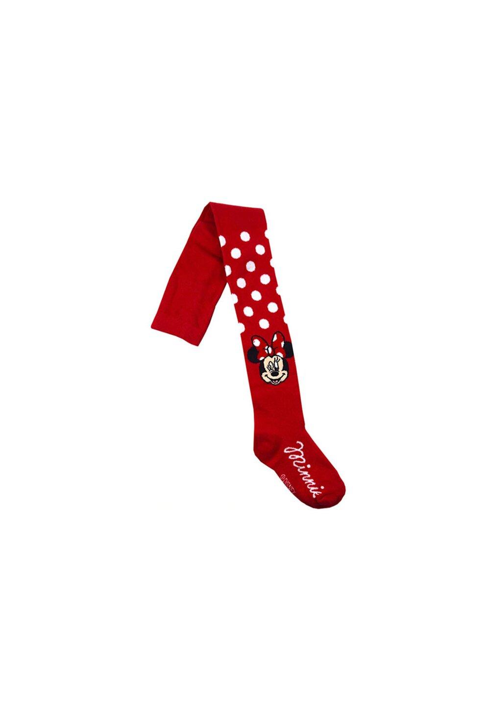 Ciorapi cu chilot, Minnie, rosii cu buline albe