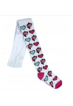 Ciorapi cu chilot, Ponny, albi cu inimioare