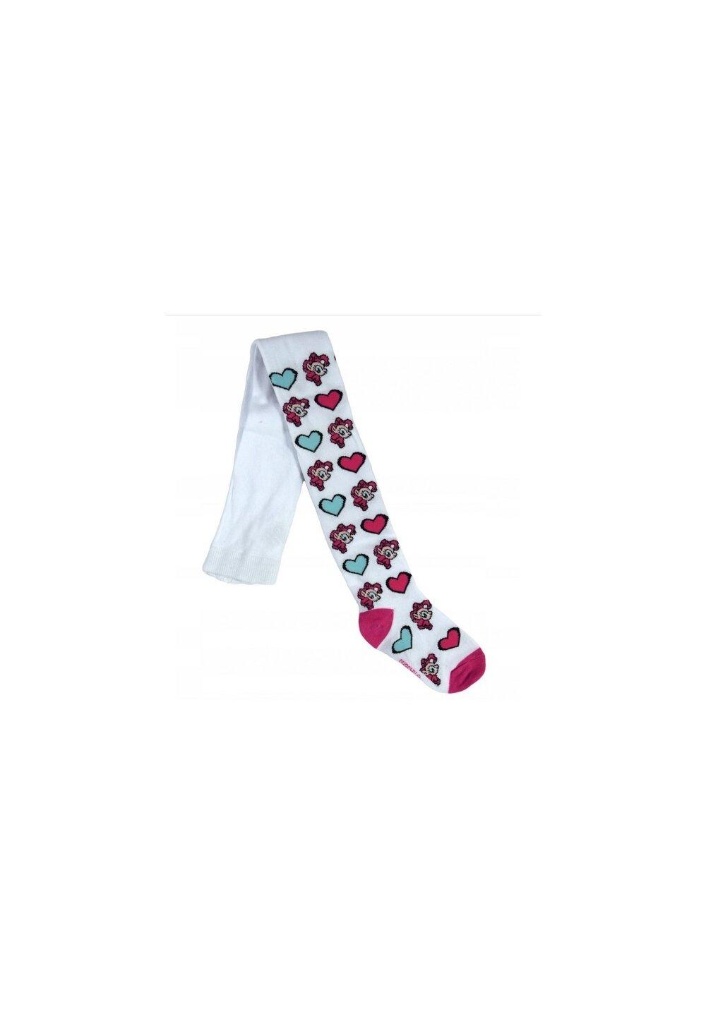 Ciorapi cu chilot, Ponny, albi cu inimioare imagine